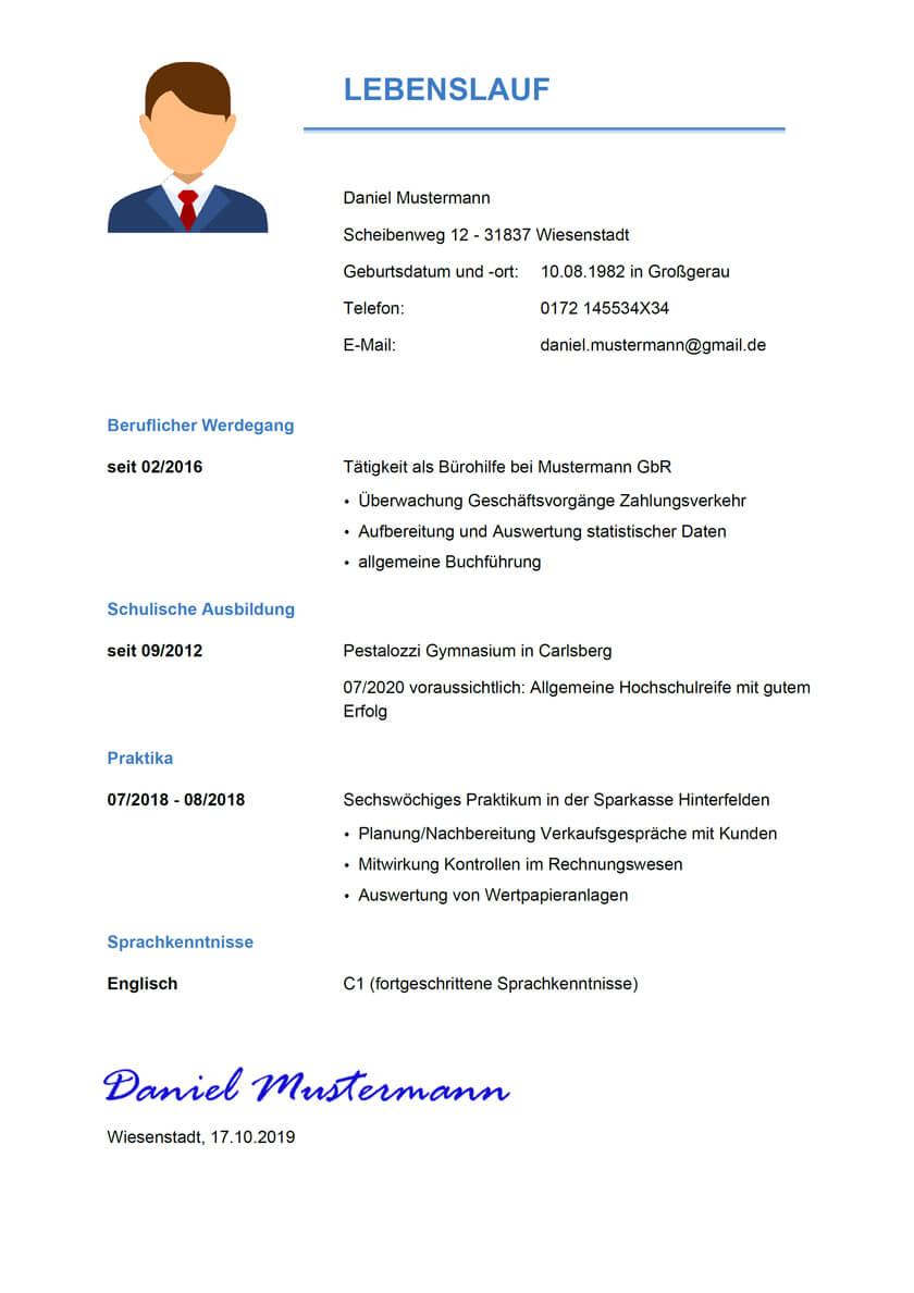 Muster Bewerbung Als Bankkauffrau Bankkaufmann 5