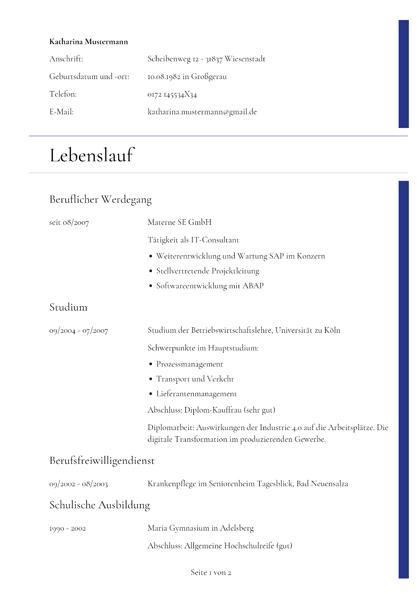 Lebenslauf Sprachkenntnisse Deutsch