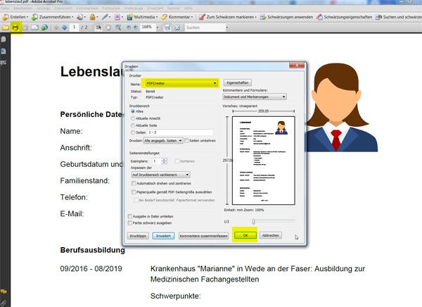PDF-Dateien zusammenfügen: Schritt 4