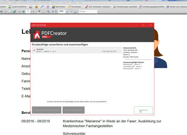 PDF-Dateien zusammenfügen: Schritt 6