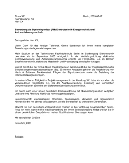 Vorschau Initiativbewerbung Diplomingenieur Elektrotechnik-Energietechnik und Automatisierungstechnik