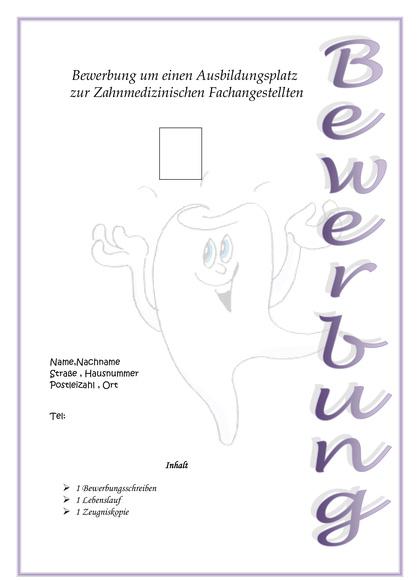 Deckblatt Zahnarzthelferin