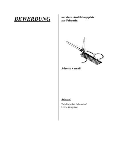 Deckblatt Friseurin