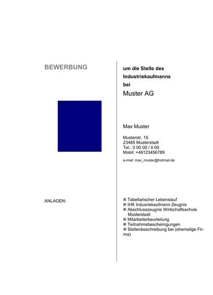 Vorschau Deckblatt Industriekaufmann