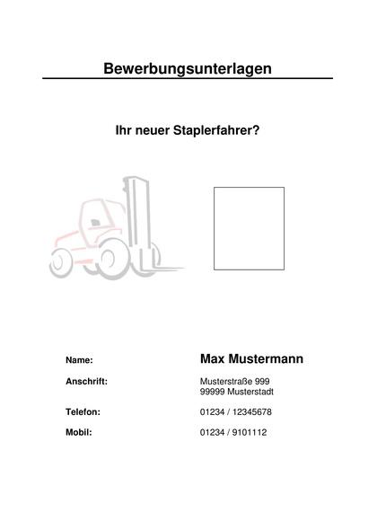 Vorschau Deckblatt Staplerfahrer
