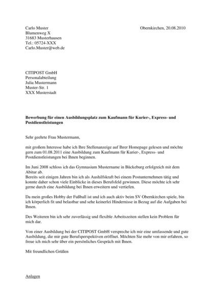 Vorschau Ausbildung Kaufmann Kurier-, Express- und Postdienstleistungen