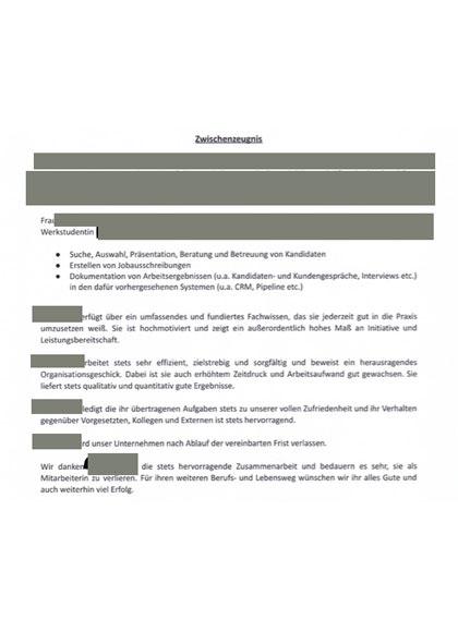 Vorschau Arbeitszeugnisse Personalberatung- und vermittlung