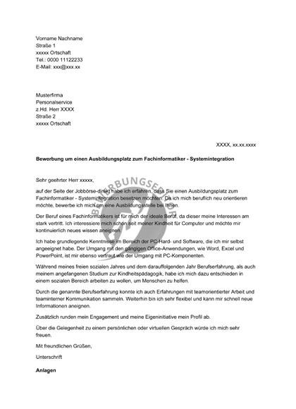 Vorschau Ausbildung Fachinformatiker - Fachrichtung Systemintegration