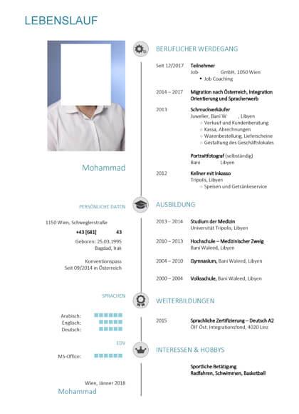 Vorschau Lebenslauf Ticket Verkäufer & Inkasso