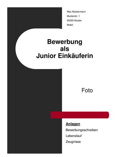 Vorschau Deckblatt Junior Einkäuferin