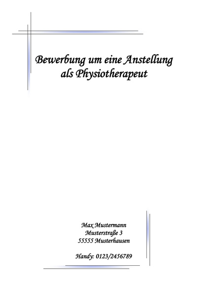 Vorschau Deckblatt Physiotherapeut