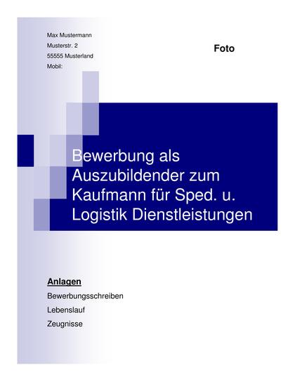 Vorschau Deckblatt Kaufmann für Spedition & Logistik Dienstleistungen